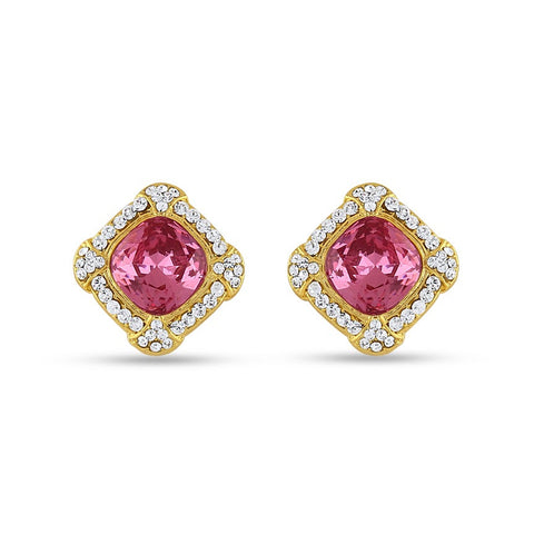 Perfect look Pink, Silver & Gold Earrings