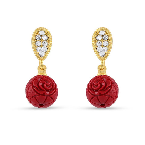 Perfect look Red Precious Jewellery Earrings
