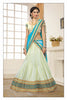 Women's Art Silk Fabric & Green Color Pretty Mermaid Cut Lehenga Style