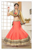 Women's Art Silk Fabric & Pink Color Pretty Mermaid Cut Lehenga Style