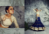 Women's Blue Color Pretty Lehenga Choli With Lace Work In Traditional Look