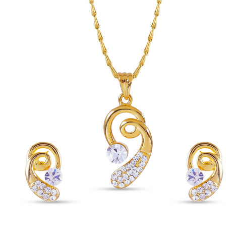 Creative Pendant Set For Women's In Golden Color