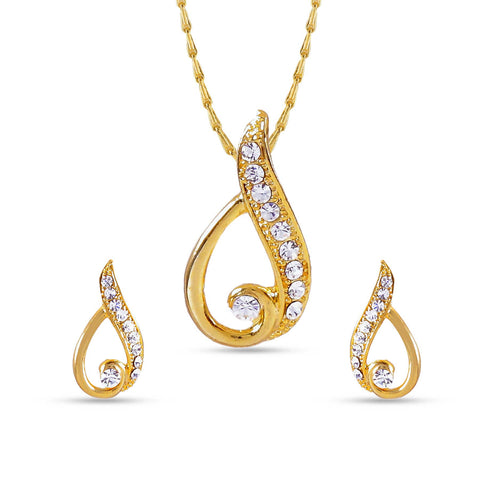 Appealing Golden Color Pendant Set