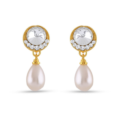 Designer & Fantastic Collection In Precious Jewellery of Earrings In White