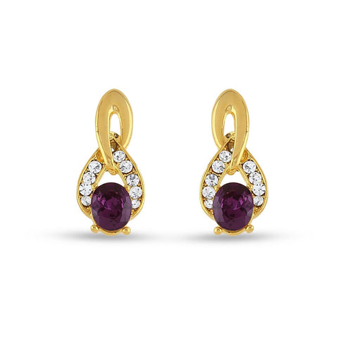 Perfect look Purple Earrings
