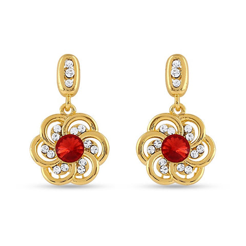 New Look Red Precious Jewellery Earrings For Women's