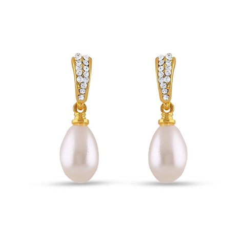 Designer & Fantastic Collection In Precious Jewellery of Earrings In White & Gold
