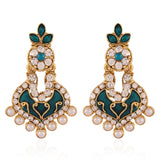 New Look Green & White Fashion Jewellery Earrings For Women's