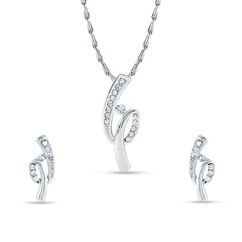 New Design Silver Color Pendant Set For Women's