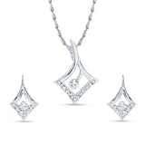 Creative Pendant Set For Women's In Silver Color