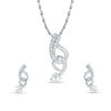 Amazing Silver Color Pendant Set