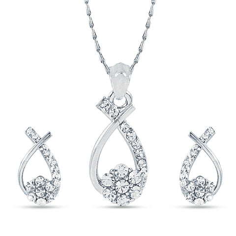 Appealing Silver Color Pendant Set