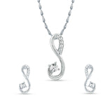 Eye-catching Silver Color Pendant Set