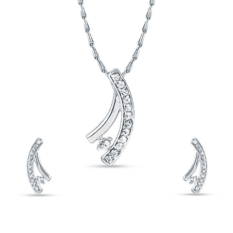 Nice-looking Silver Color Pendant Set