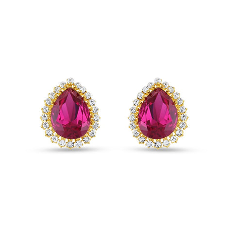 Perfect look Pink & White Precious Jewellery Earrings
