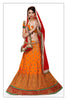 Women's Satin Fabric & Orange Pretty A Line Lehenga Style