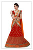 Women's Red & Silk Fabric Pretty Unstitched Lehenga Choli