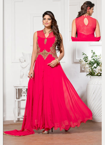 Georgette Fabric Readymade Gown