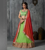 Women's Green Pretty A Line Lehenga Choli