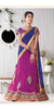 Women's Net Fabric & Violet Pretty Unstitched Lehenga Choli