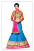 Women's Pretty A Line Lehenga Style in Sky Blue Color With Lace Work Dupatta