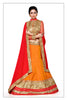 Women's Orange & Silk Fabric Pretty Unstitched Lehenga Choli