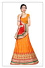 Women's Pretty A Line Lehenga Style in Orange With Lace Work Dupatta