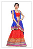 Women's Silk Fabric & Red Pretty A Line Lehenga Style With Lace Work Dupatta