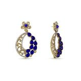 Perfect look Yellow, Blue & Silver Artificial Jewellery Earrings