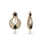 Perfect look Black, Silver & Gold Earrings