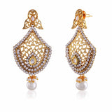 Fantastic & luxurious Collection In Artificial Jewellery of Earrings In Beige & Gold