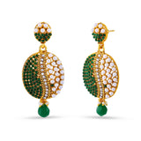 Perfect look Beige, Green & Gold Earrings