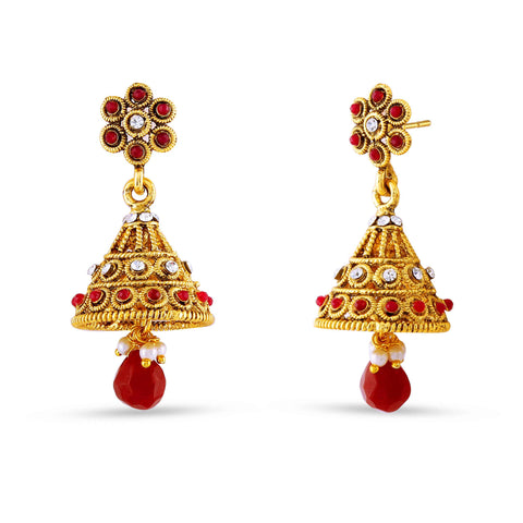 Fabulous & Designer Collection In Artificial Jewellery of Earrings In Beige & Gold