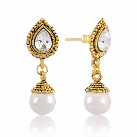 Perfect look Silver & Gold Precious Jewellery Earrings
