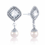 Traditional & Heavy Collection In Precious Jewellery of Earrings In Gray & Silver