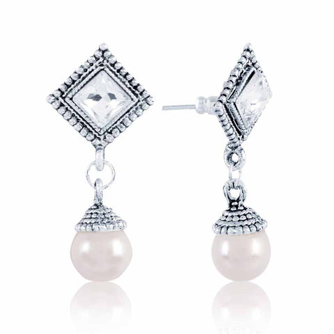 Traditional & Fantastic Collection In Precious Jewellery of Earrings In Gray & Silver