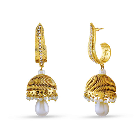 Fantastic & Fancy Collection In Artificial Jewellery of Earrings In Red, Beige & Gold