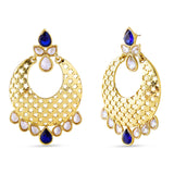 Fancy & Fantastic Collection In Artificial Jewellery of Earrings In Beige, Blue & Gold