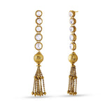 luxurious & Fancy Collection In Artificial Jewellery of Earrings In Beige & Gold
