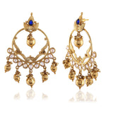 New Look Blue & Gold Artificial Jewellery Earrings For Women's