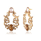 Perfect look Pink, Brown & Gold Earrings