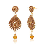 Perfect look Cream & Gold Artificial Jewellery Earrings