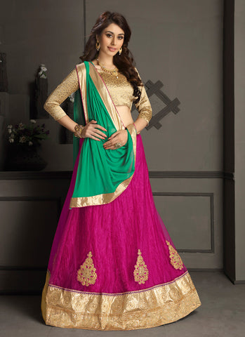 Women's Gota Silk Fabric Pretty A Line Lehenga Choli