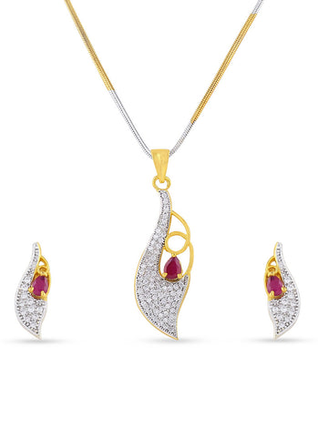luxurious & Fancy Collection In Precious Jewellery of Pendant Set In Silver & Gold