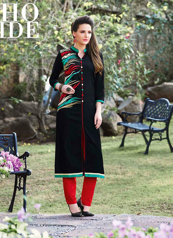 Incredible Achkan Kurti in Black