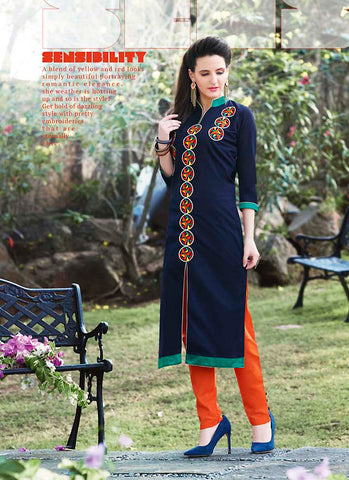 Incredible Achkan Kurti Style in Blue