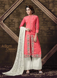 Achkan Style Pink with Sequins Work Incredible Unstitched Salwar Kameez