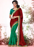 Women's Attractive Looking Green Jacquard Ethnic Saree