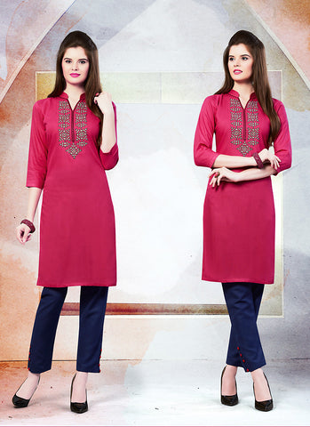 Incredible Straight Kurti in Violet