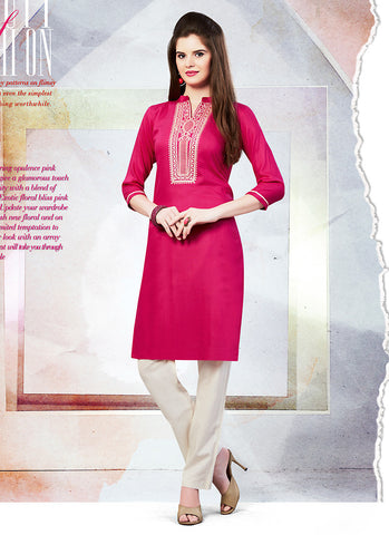 Incredible Straight Kurti Style in Violet